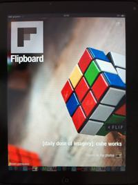 Mit einer Fotoauswahl wird der Nutzer der Flipboard-App begrüßt