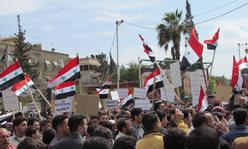 Demonstranten in Syrien: Hier war Facebook Tool der Revolution und Gegenrevolution
