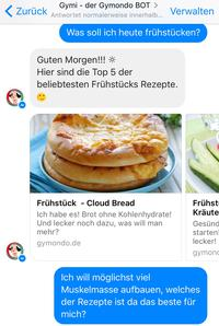 (Bild: Screenshot Facebook Messenger/Gymondo)