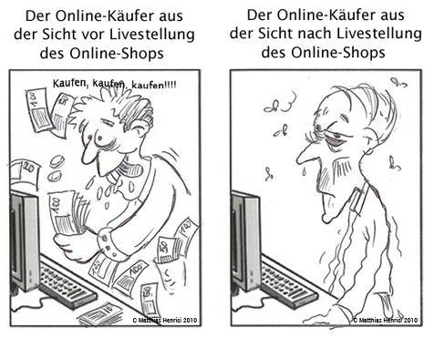 Unbekannte Online Shops